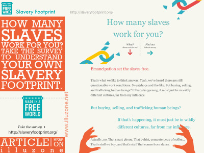 ARTICLE & INFOGRAPHIC | How Many Slaves Work For You?