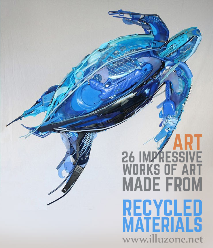 ART | 26 Impressive works of art made from recycled materials