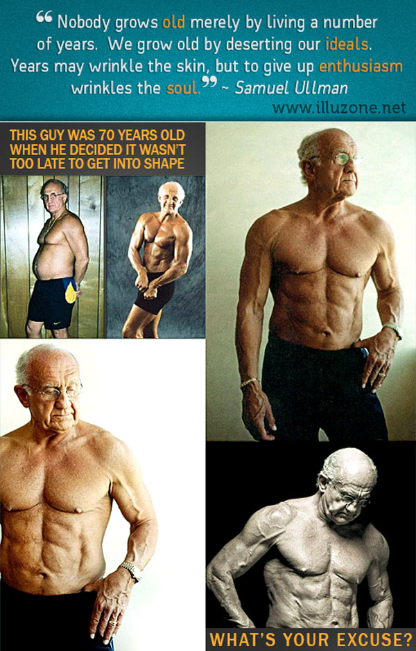 70 year old man gets fit