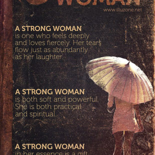 strong woman quote, feminine