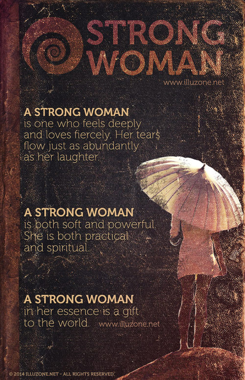 POSTER | A strong woman is a gift to the world.