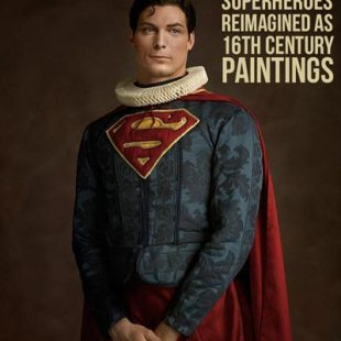 superman, superhero in 16th century style