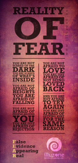 Reality Of Fear quote
