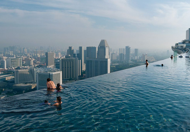 exotic swimming pool,