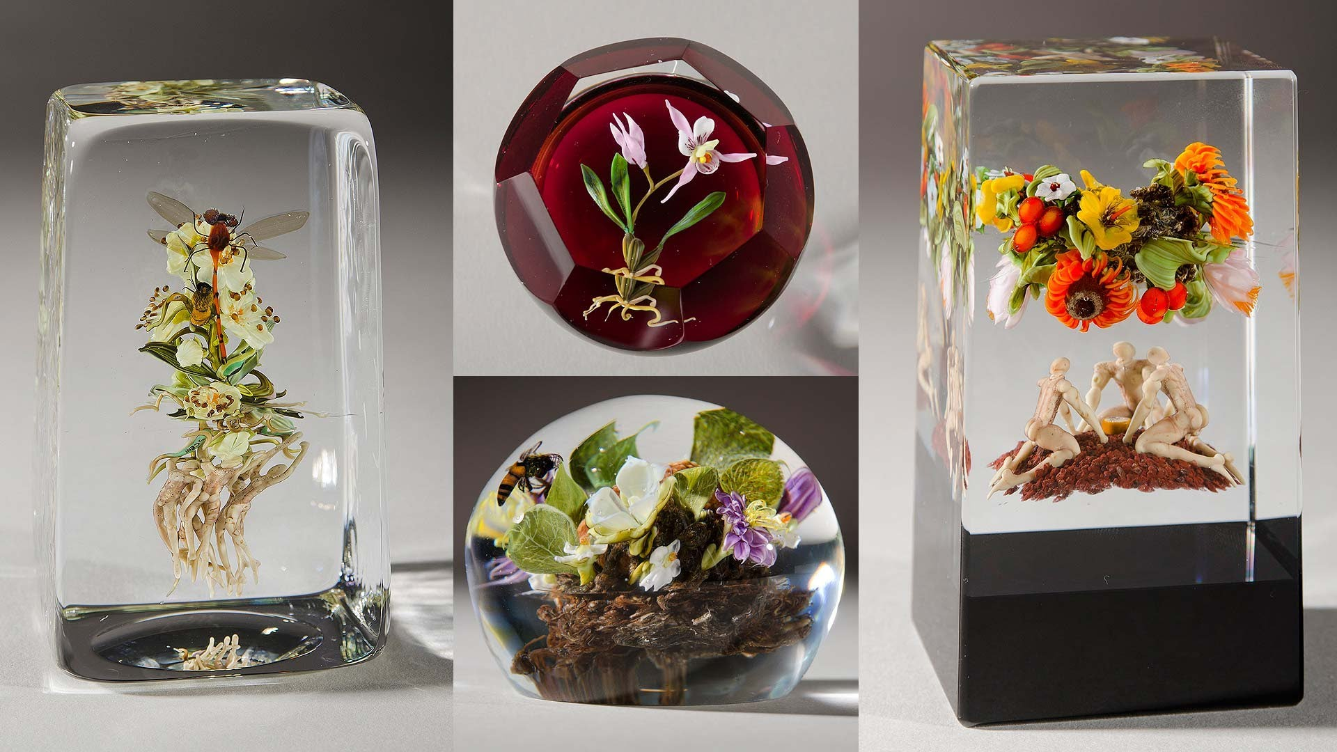 Paul Stankard Artistic Glass Paperweights 4