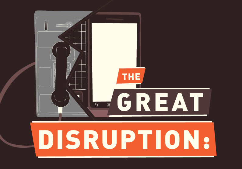 INFOGRAPHIC | The Great Disruption. Out of necessity, consumer technology constantly reinvents itself.