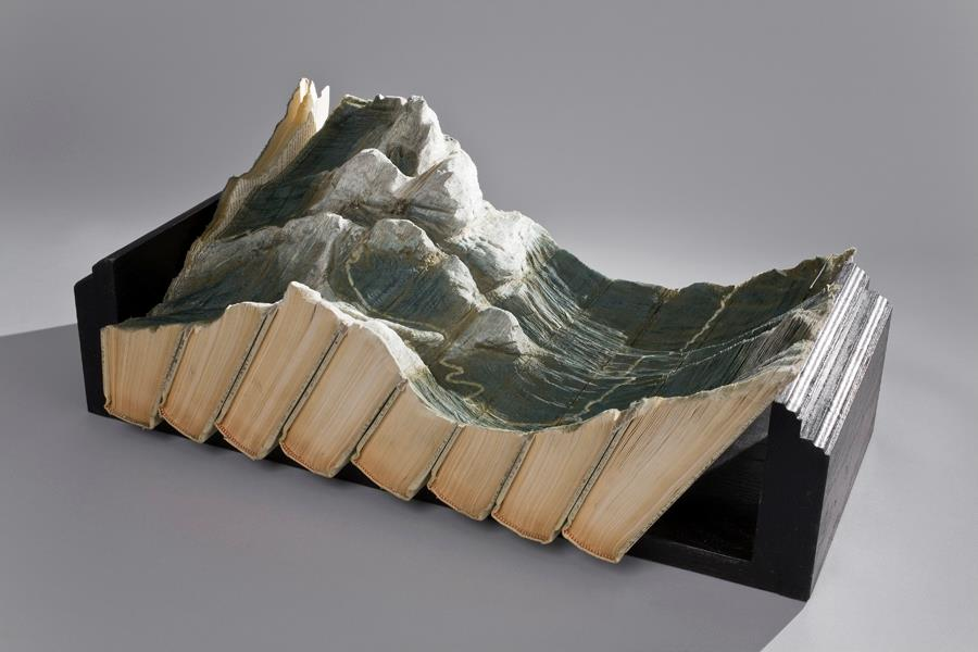 Carved Book Landscapes by Guy Laramée