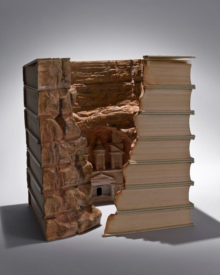 Carved Book Landscapes by Guy Laramée