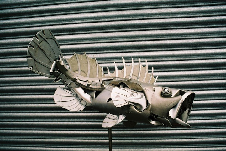 Discarded Hubcaps fish 2