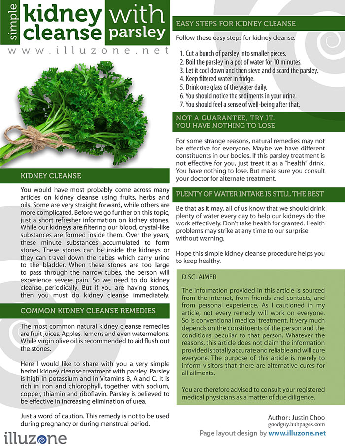 VISUAL | Simple kidney cleanse with parsley