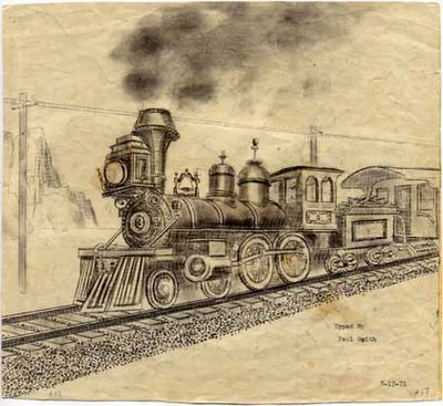 Train illustration by Paul Smith
