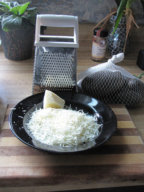 Jay Davis via Flickr / Via Flickr: birdman Just like with pre-packaged lettuce, grated cheese costs extra $$$ for the convenience. Grate a large hunk of cheese and keep it in a container in the fridge for easy sprinkling.