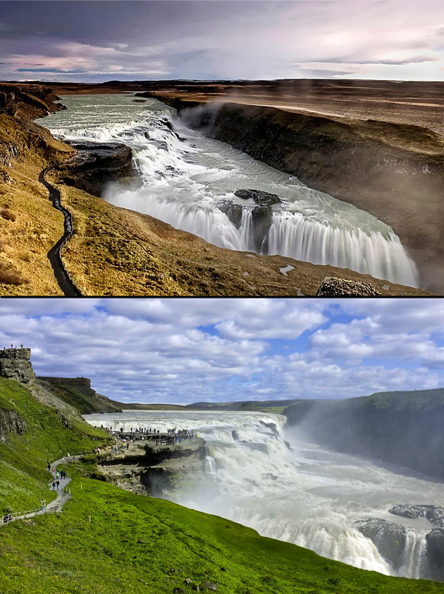 Gullfoss-(Golden-Falls)-in-Iceland---most-amazing-waterfalls