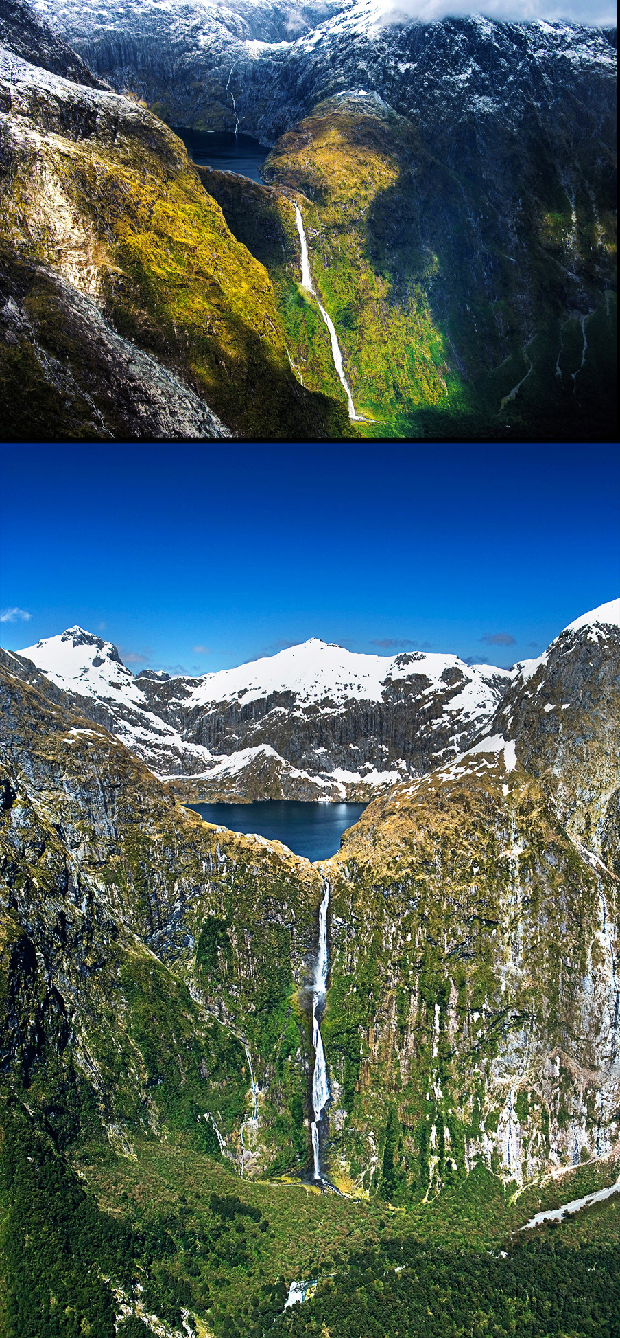 Sutherland-Falls-in-New-Zealand---most-amazing-waterfalls