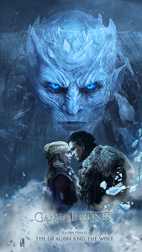 Game of Thrones Fan Art - The Dragon and The Wolf