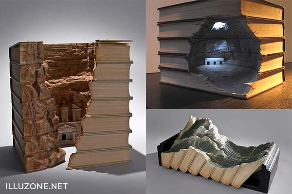 Unbelievable Carved Book Landscapes | ART