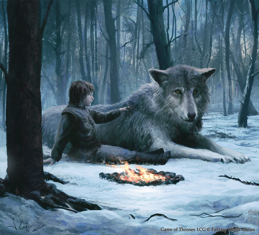 Game of Thrones Fan Art - Bran Stark and Summer