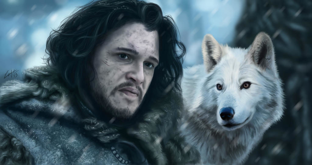 Game of Thrones Fan Art - Jon Snow and Ghost