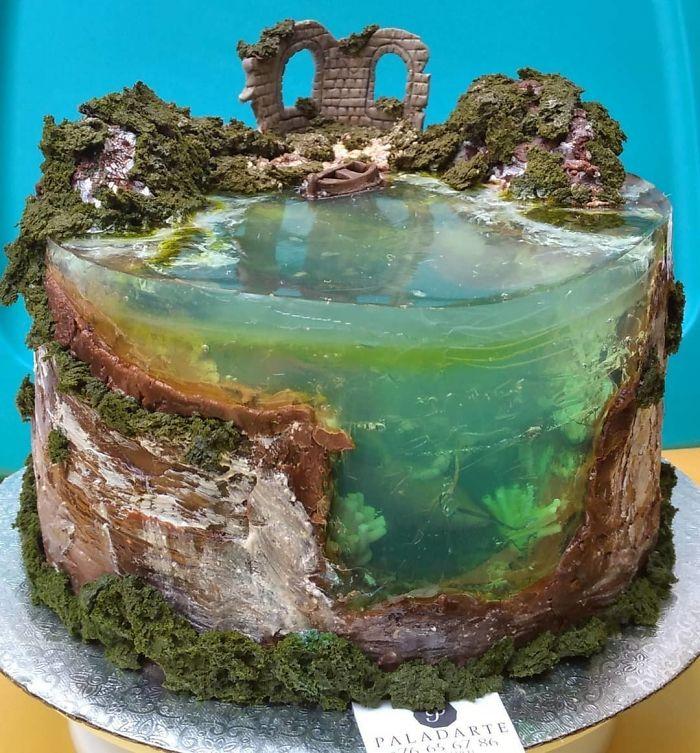 Island Cake or Island Jelly Cake