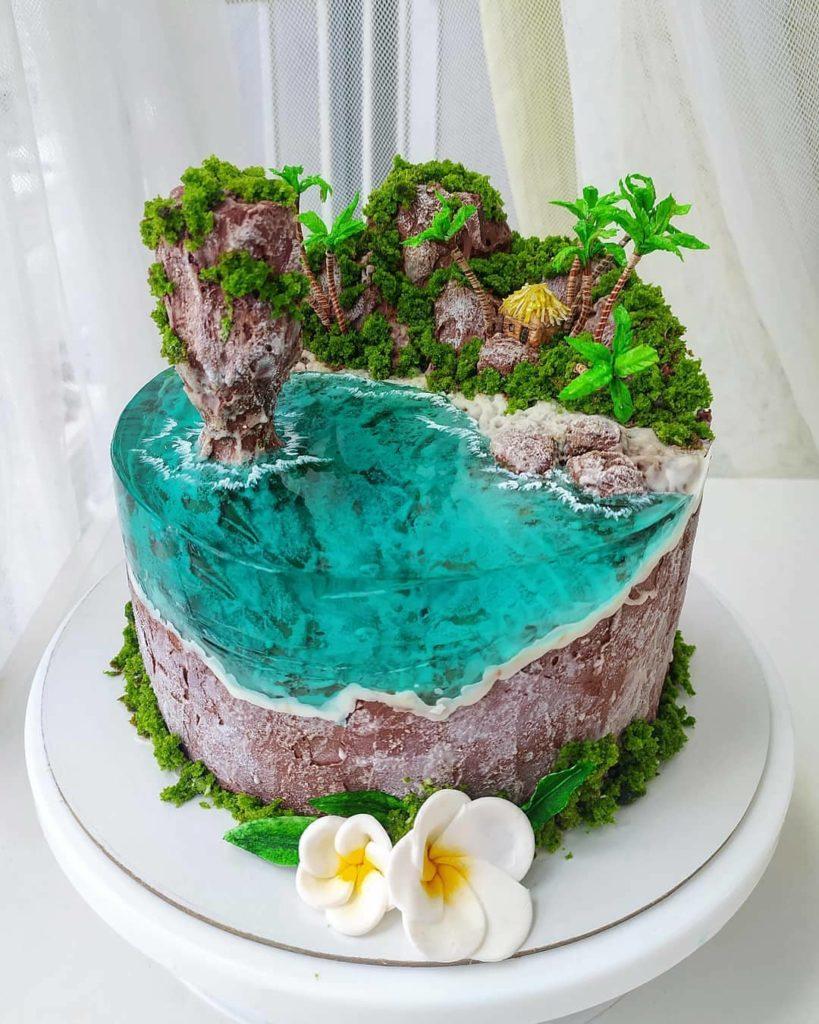 Island Cake or Island Jelly Cake by radiojeka